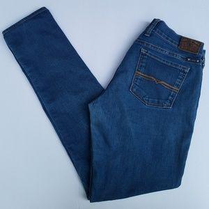 Lucky Brand Charlie Distressed Skinny Jeans 31X32